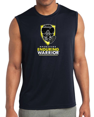 Active Men's Black Tank Top T-Shirt OEW Yellow Mask - Sweat-Wicking Breathable