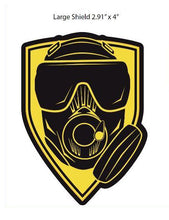 OEW Mask Shield, Yellow 3D Patch w Velcro Backing Available in Small and Large