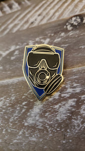 Lapel or Hat Pin Task Force Sentinel Mask Blue