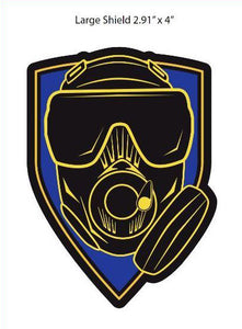 Task Force Sentinel Blue Shield 3D Patch w Velcro back Available in Small and Large