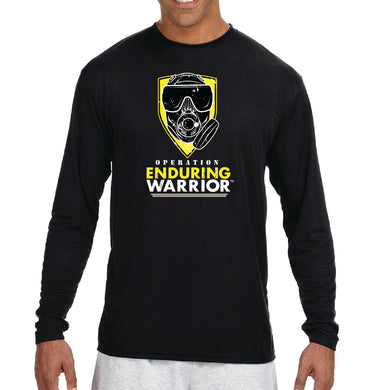 Active Black Long-Sleeve T-Shirt OEW Yellow Mask - Sweat-Wicking Breathable