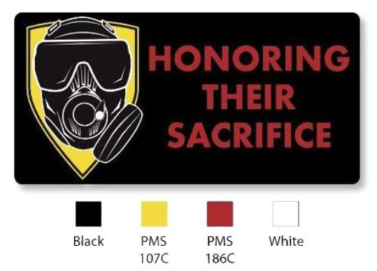 OEW Honoring Their Sacrifice Black / Red 3D PVC Patch w Velcro back 4