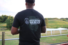Black T-Shirt with Dark Gray / White OEW Shield on Front and Logo + Shield on Back