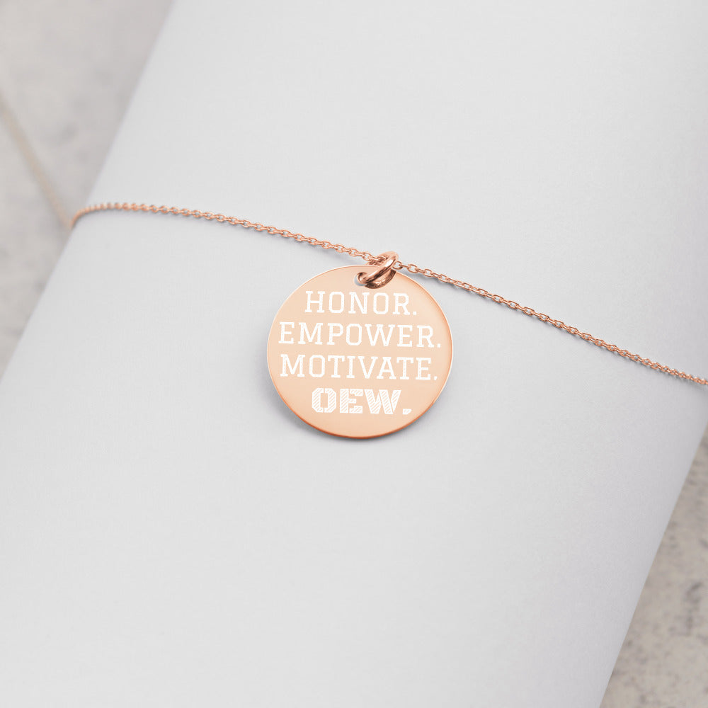 OEW HONOR EMPOWER MOTIVATE Necklace