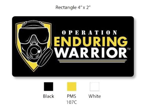 OEW Logo Black / Yellow  3D PVC Patch w Velcro Back 4
