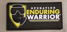 "OEW Logo Black / Yellow  3D PVC Patch w Velcro Back 4"" W x 2"" H Rectangular"