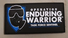 "Task Force Sentinel Logo Rectangle (Blue) Rectangular 4"" W x 2"" H Patch"