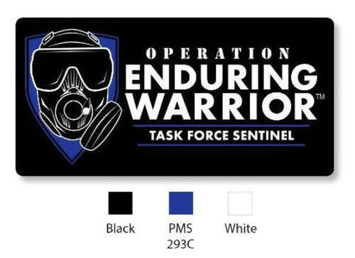 Task Force Sentinel Logo Rectangle (Blue) 3D Patch w Velcro back Rectangular 4
