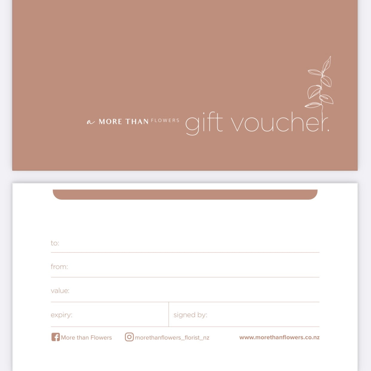 More Than Flowers Voucher