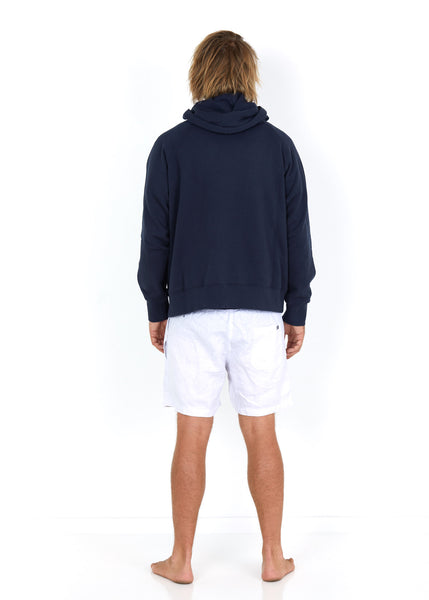 Cotton Hoodie Navy - Back
