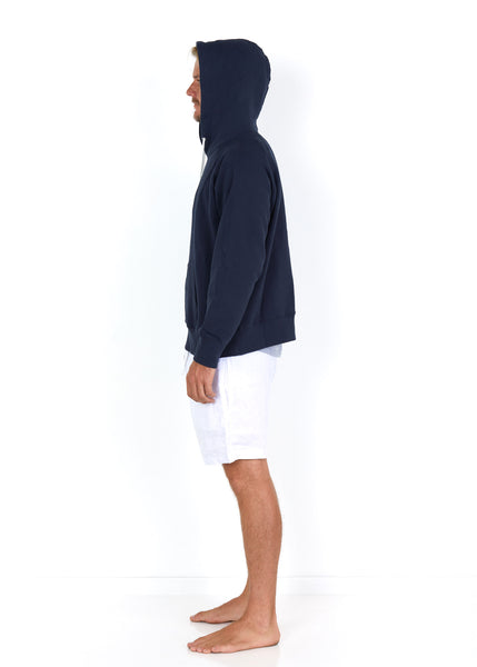 Cotton Hoodie Navy - Side