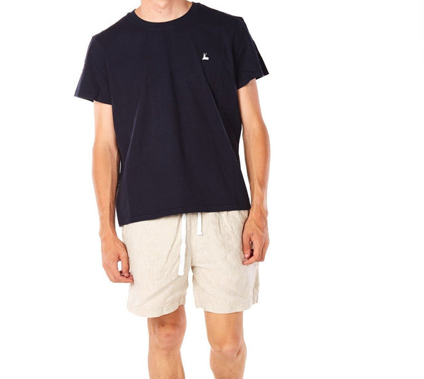 Cotton T-shirt Navy - Front