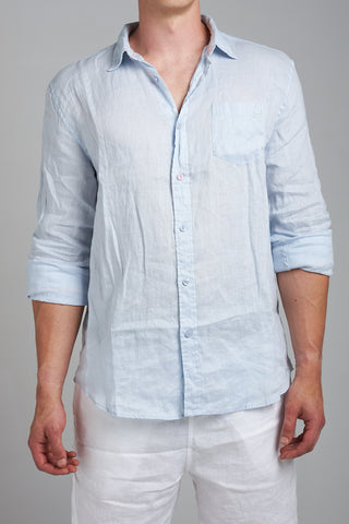 LINEN SHIRT - PALE BLUE