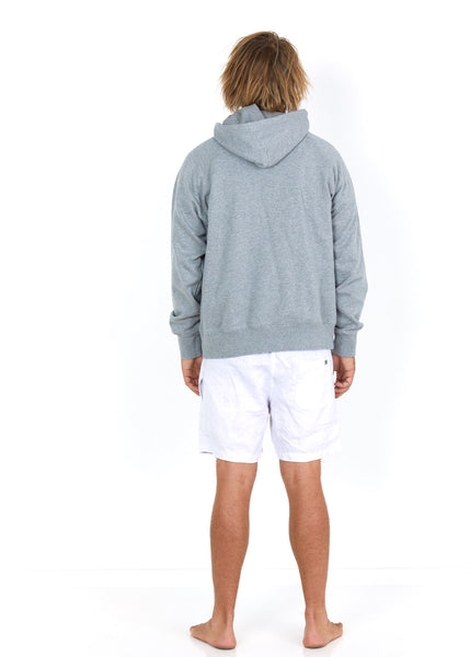 Cotton Hoodie Grey - Back