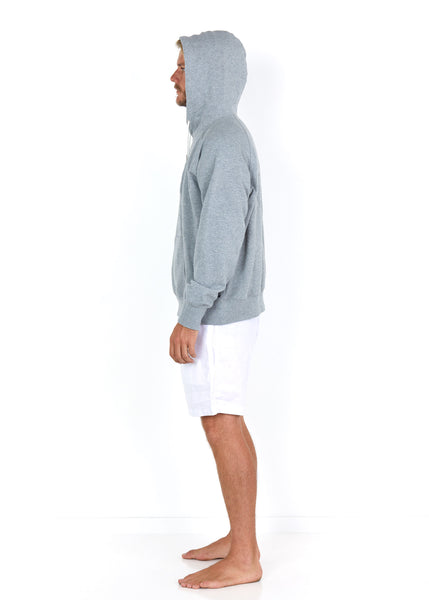 Cotton Hoodie Grey - Side
