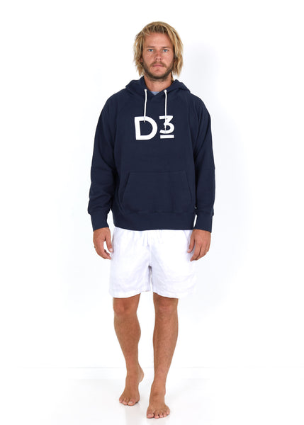 Cotton Hoodie Navy - Front