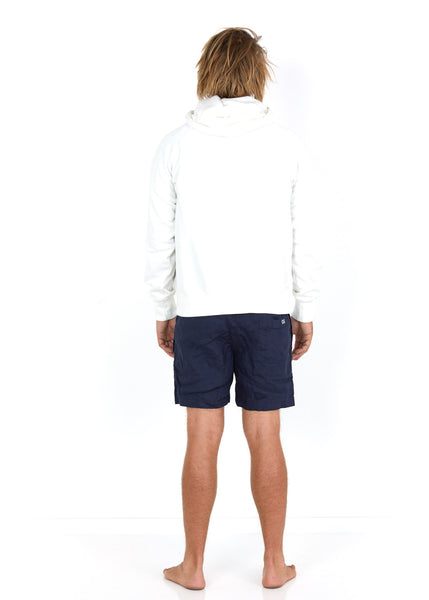 Cotton Hoodie White - Back