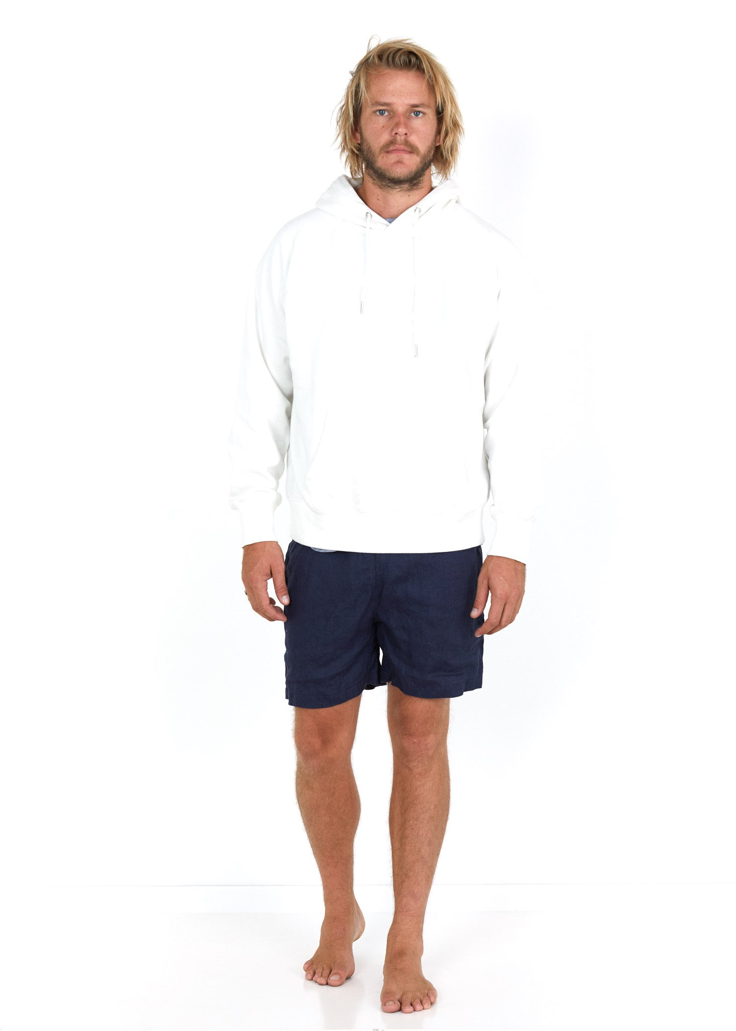Cotton Hoodie White - Front