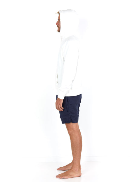 Cotton Hoodie White - Side