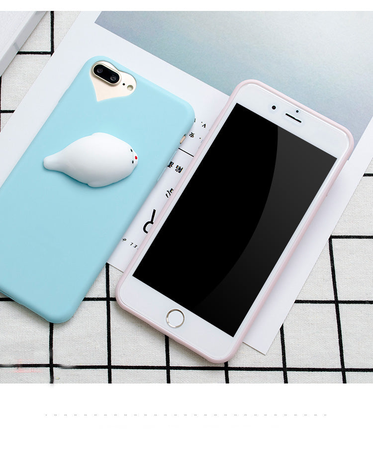 63a8c0b48444b8 Lovely 3D Silicone Cartoon Squishy Phone Case For iPhone ...
