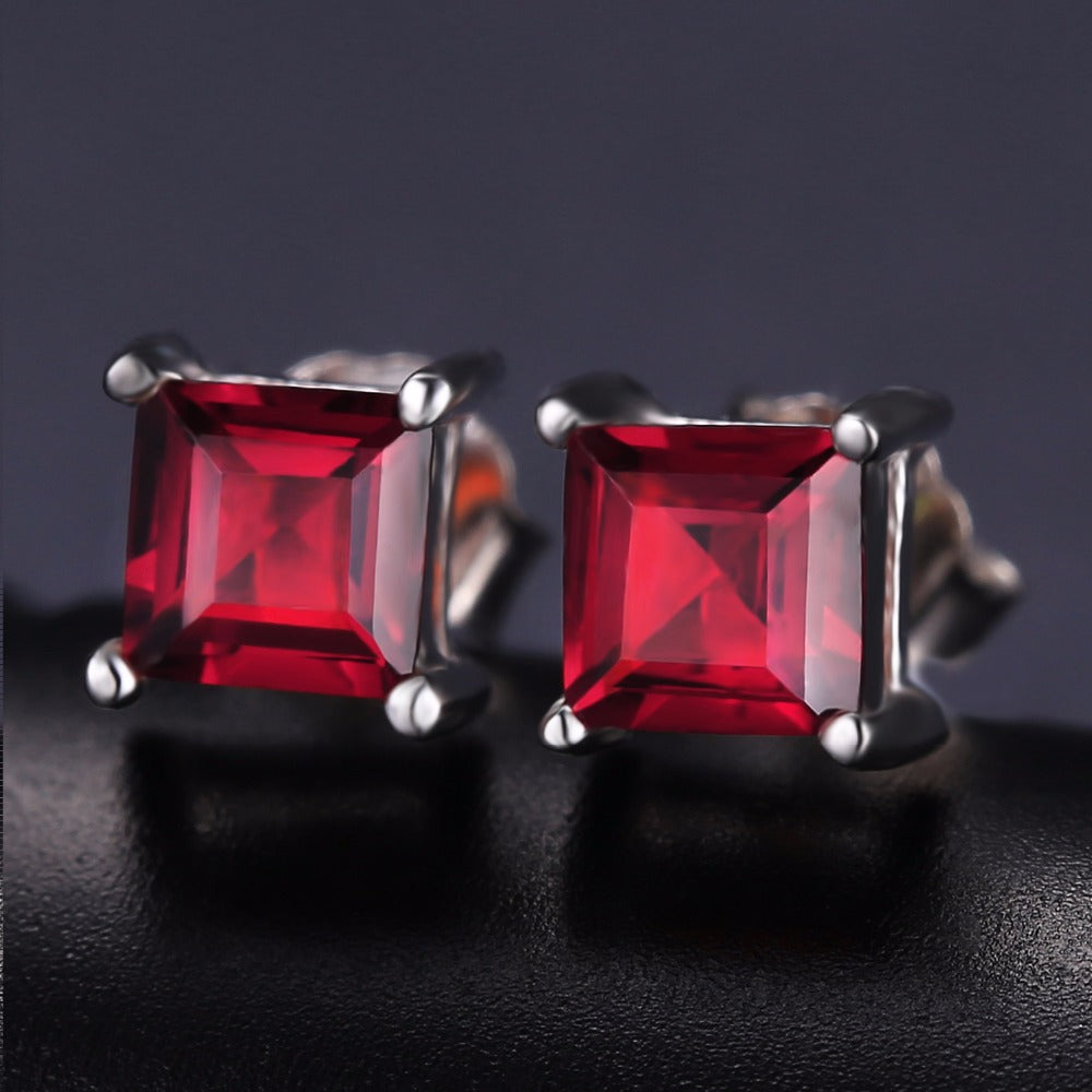 natural red carat igl diamond ruby certified earrings unheated
