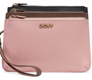DKNY Three Zip Clutch