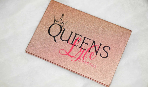 ROSE GOLD PRESSED GLITZY GLITTER PALETTE