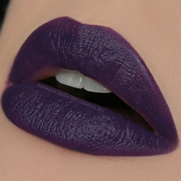 QueensLyfe Cosmetics Bitchy Purple Lipstick