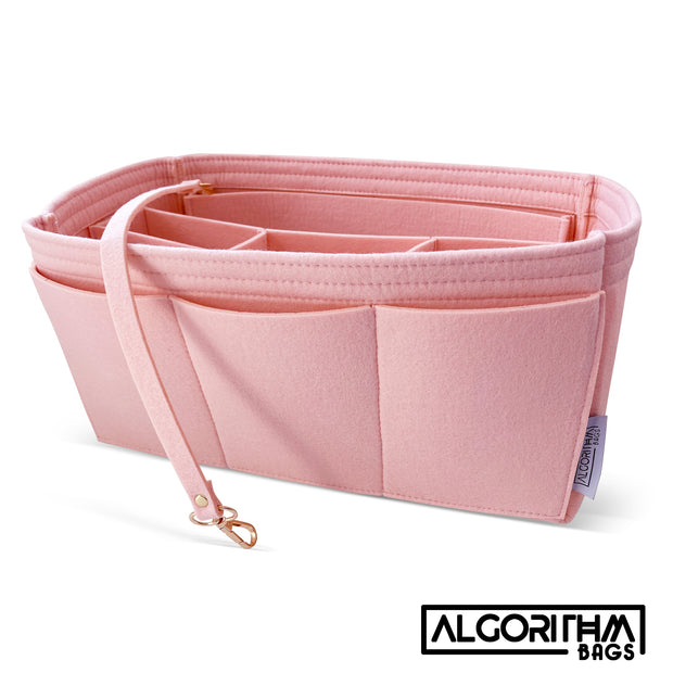 AlgorithmBags purse organizer insert for Longchamp le pliage Pink rose ballerine powder pink divider liner protector shaper