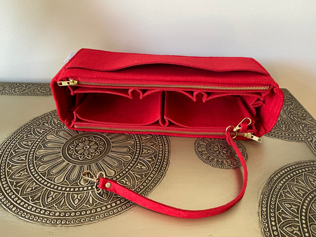 AlgorithmBags LV Purse Organizer graceful mm cherry red insert liner divider shaper