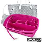 AlgorithmBags LV Purse Organizer Insert for Louis Vuitton Neverfull MM pivoine fuchsia