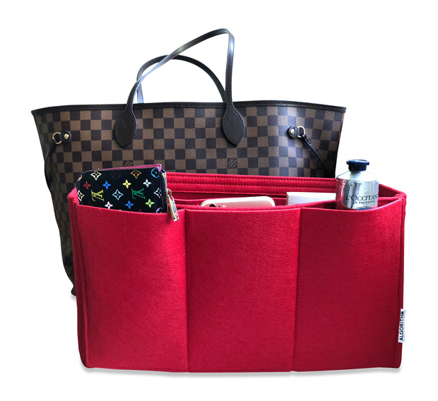 AlgorithmBags LV Purse Organizer for Neverfull GM Tote Diaper Bag Red damier ebene