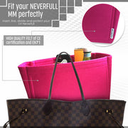 AlgorithmBags® for Louis Vuitton Neverfull MM LV Purse Organizer Pivoine, 3mm Felt
