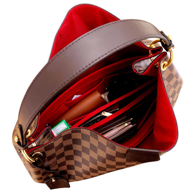AlgorithmBags for Louis Vuitton Gracefull cherry red LV Purse Organizer insert liner shaper divider spacer protector