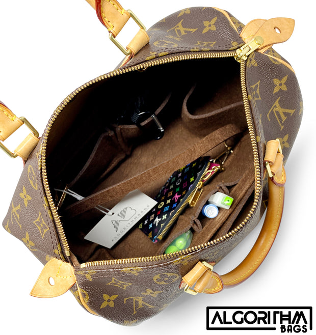 AlgorithmBags LV Speedy 35 purse organizer insert 3mm felt premium louis vuitton bag organizer