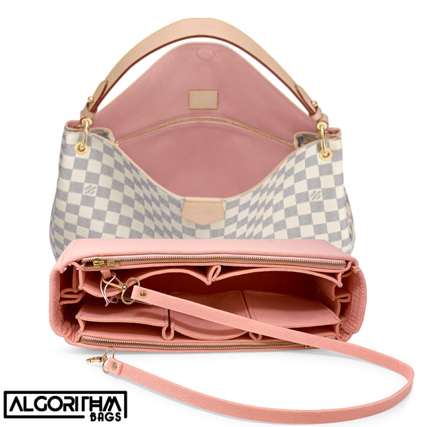 AlgorithmBags for louis vuitton graceful damier azur rose ballerine lv purse organizer insert liner shaper divider protector