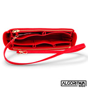 Graceful PM LV Purse Organizer Insert, 3mm Felt, Cherry Red Shaper/Liner/Protector, Only @AlgorithmBags® for Louis Vuitton