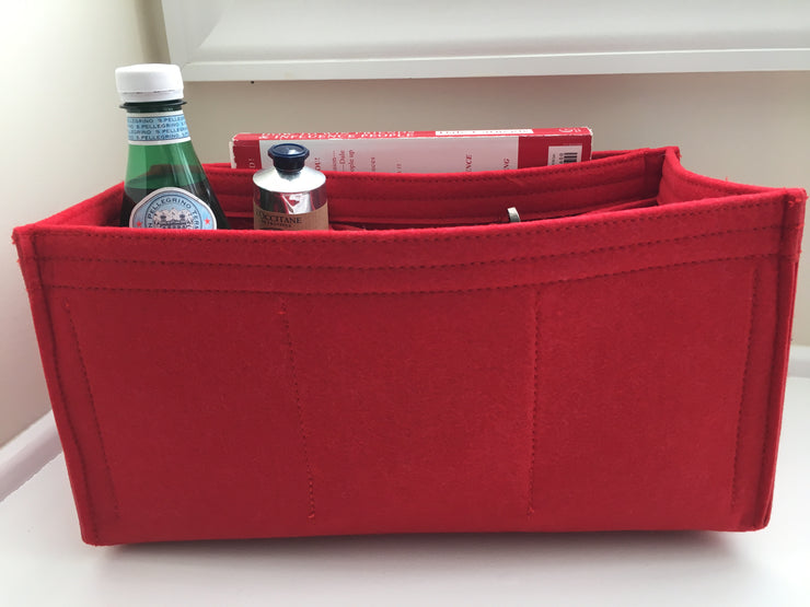 Purse Organizer Insert designed for LV Speedy 30, Cherry Red, 3mm Felt Liner Shaper Stabilizer, Only @AlgorithmBags® for Louis Vuitton