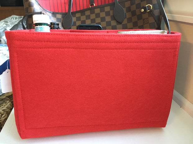 Louis Vuitton Neverfull GM Organizer Insert Shaper Liner Red Felt Luxury Handbags LV
