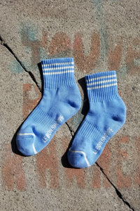 Girlfriend Socks - Parisian Blue