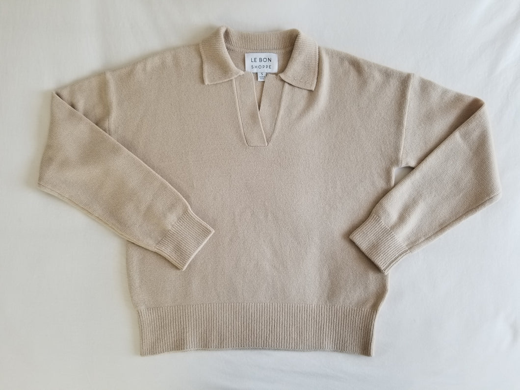 Nanette Sweater Top - Irish Cream