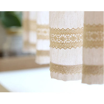 Solid Cotton Cafe Curtain, Kitchen Curtain,Bathroom Curtain, Farm House Style Valance