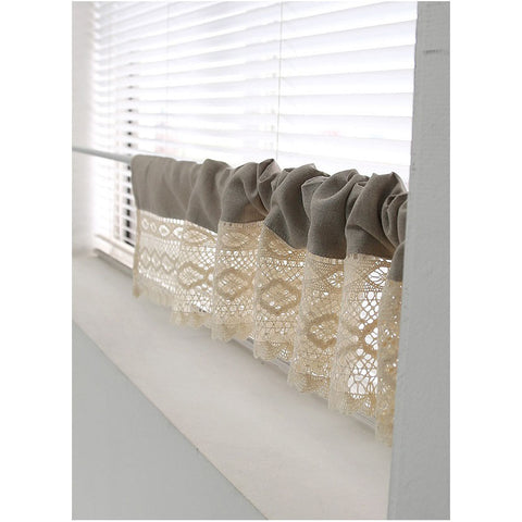 Hand Crochet Kitchen Cafe Curtain Window Valance Shelves Curtain