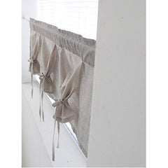 "Layered Tie Valance, Cafe Curtain, Alter Curtain In Modern Style 42""W x 15""L"
