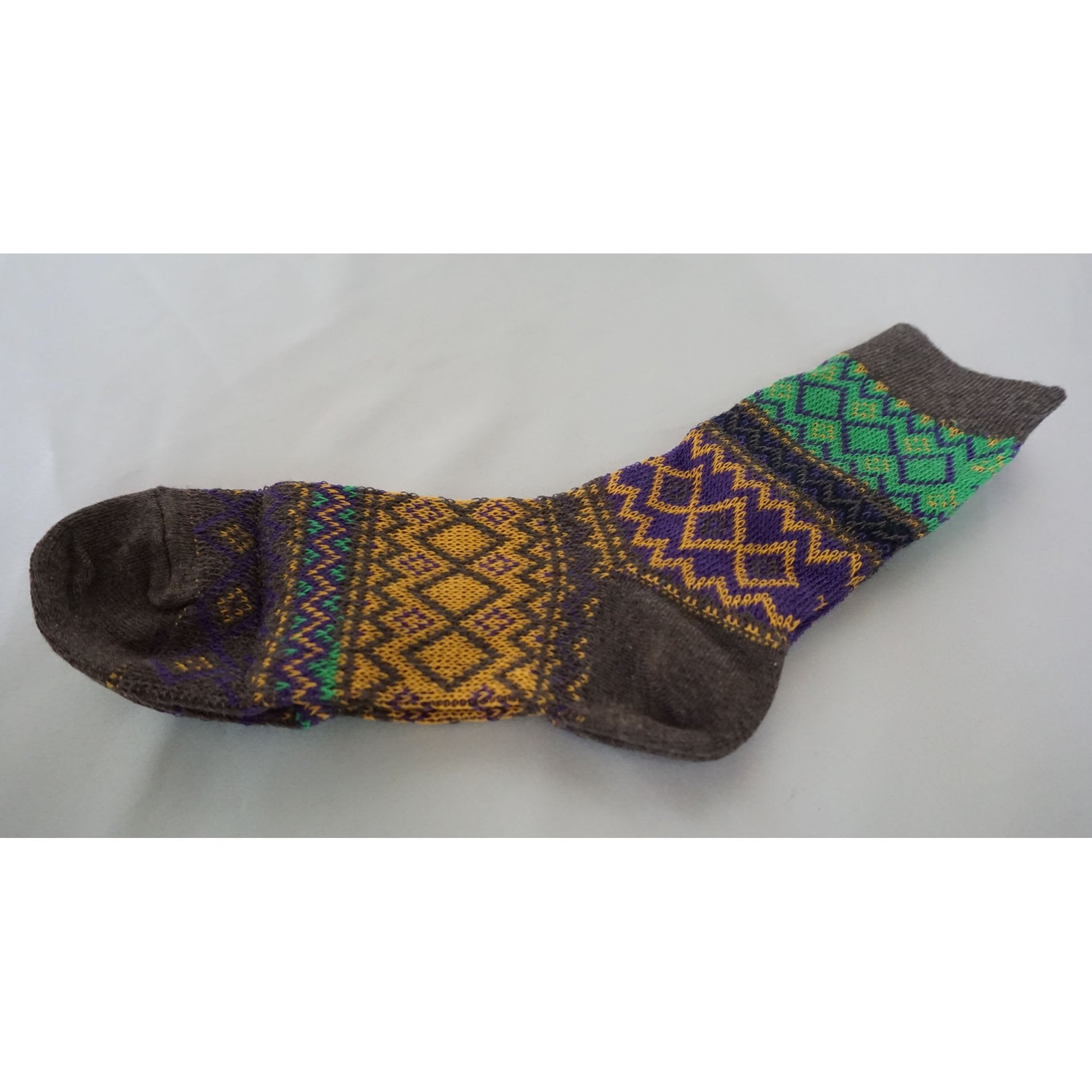 4Pack Women's Mismatched Casual Crew Jacquard Knit Socks