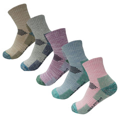 5Pack Women's Mid Cushion Low Cut Hiking/Camping/Performance Socks