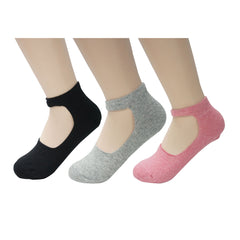 Women's Low Cut No Show Cotton Socks with Ankle Strap