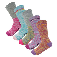 5Pack Women's Multi Performance Cotton Terry Cushion Hiking/Outdoor Crew Socks