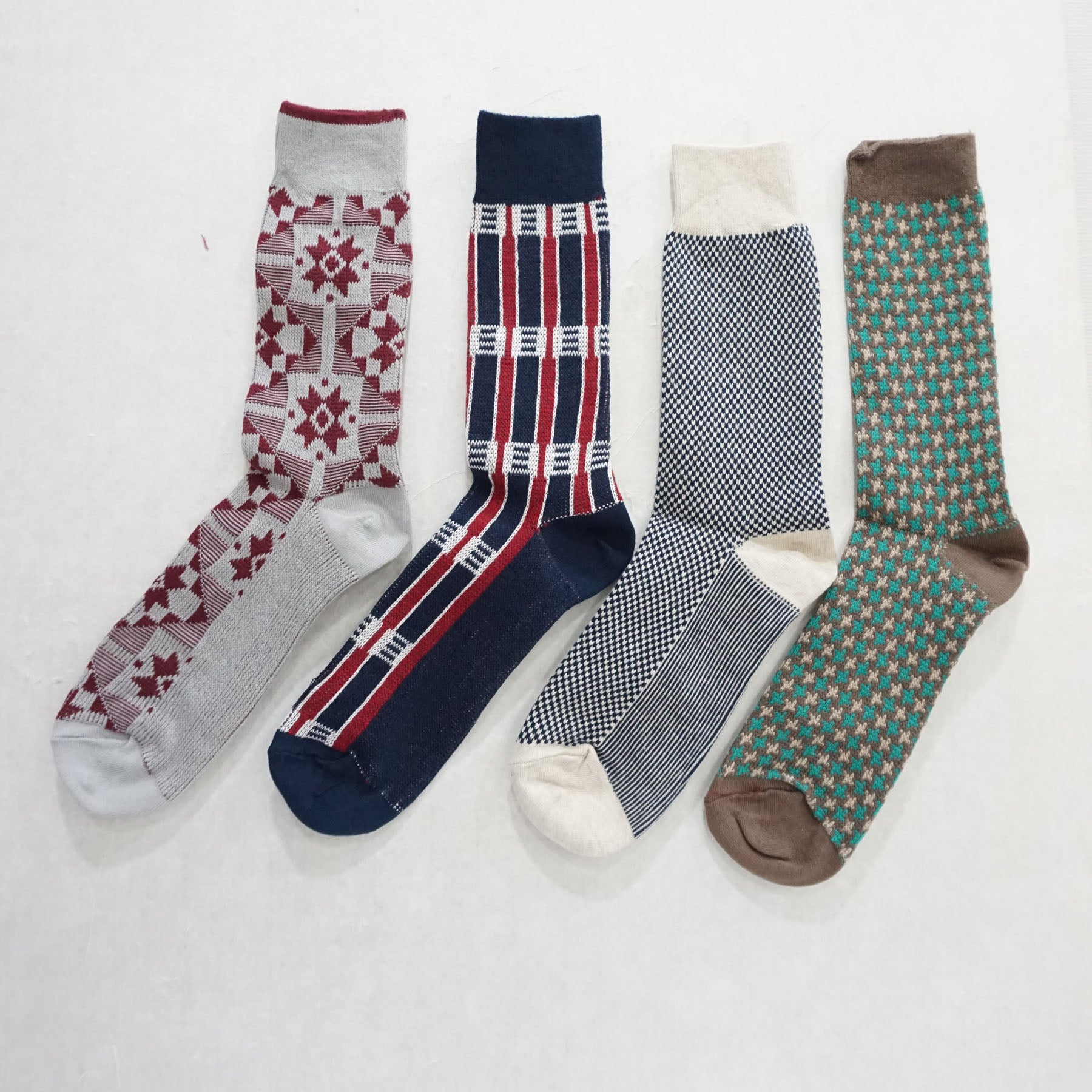 4Pack Men's Winter Casual Warm Knit Dress Socks