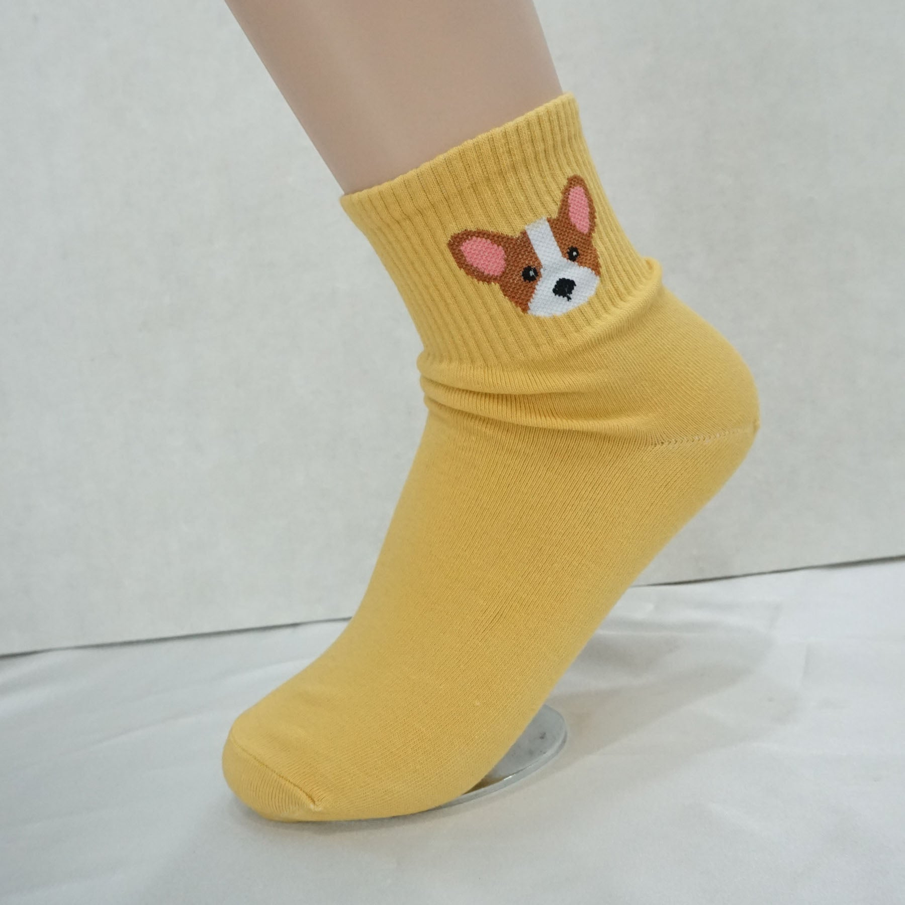 5Pairs Women's Cotton Cute Dog Print Ankle Socks My Puppy